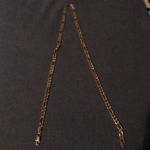 18 inch Figaro gold plated chain